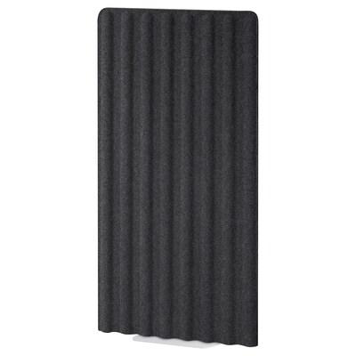 EILIF Skærm, fritstående, mørkegrå/hvid, 80x150 cm