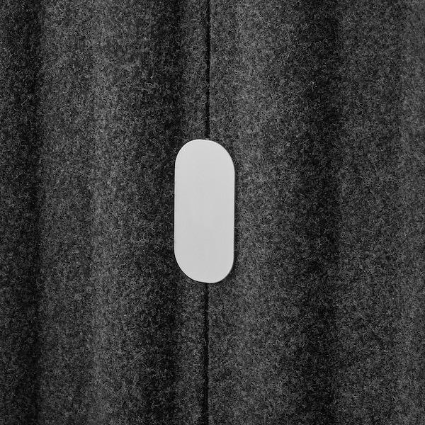 EILIF Skærm, fritstående, mørkegrå, 80x150 cm