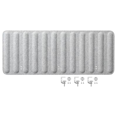 EILIF Skærm til skrivebord, grå, 120x48 cm