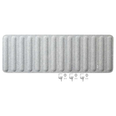 EILIF Skærm til skrivebord, grå, 140x48 cm