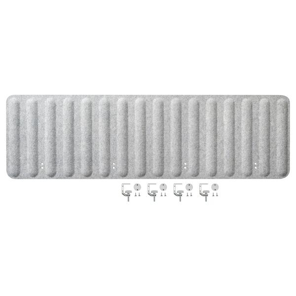 EILIF Skærm til skrivebord, grå, 160x48 cm