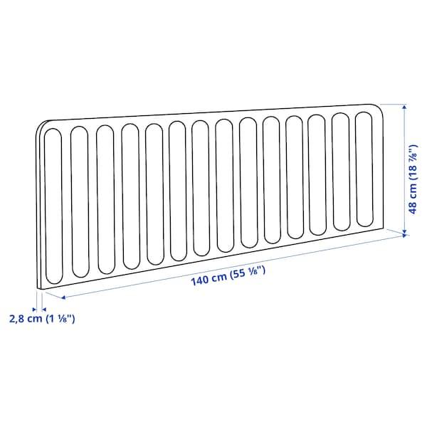EILIF Skærm til skrivebord, mørkegrå, 140x48 cm