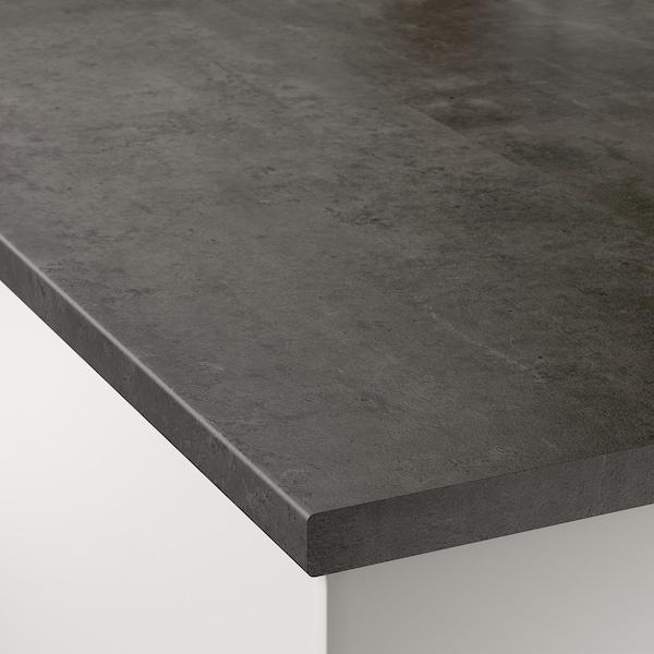 EKBACKEN Bordplade efter mål, betonmønstret/laminat, 45.1-63.5x2.8 cm