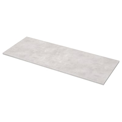 EKBACKEN Bordplade efter mål, lysegrå betonmønstret/laminat, 45.1-63.5x2.8 cm