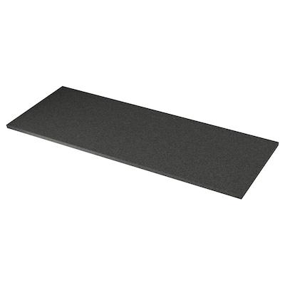 EKBACKEN Bordplade, sort stenmønstret/laminat, 186x2.8 cm