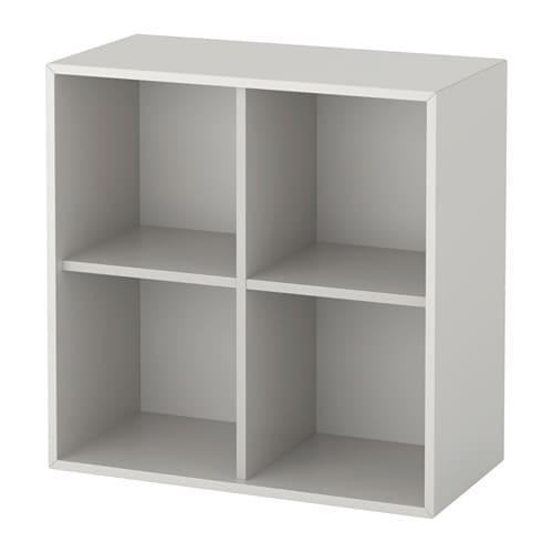 eket skab med 4 rum lysegr ikea. Black Bedroom Furniture Sets. Home Design Ideas