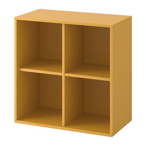 Mega EKET Vægmonteret reol 4 rum - gyldenbrun - IKEA KE61