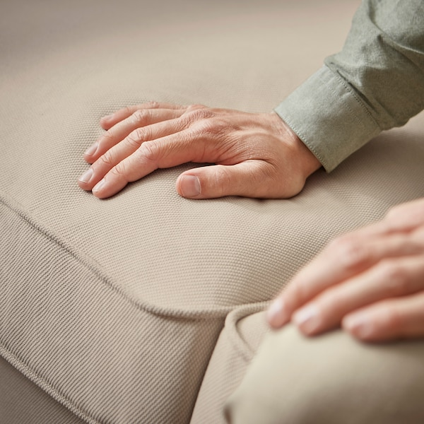 EKTORP 3-pers. sofa med chaiselong, Hallarp beige