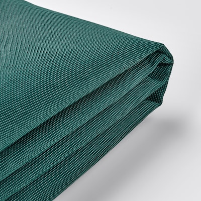 EKTORP Betræk 3-pers. sofa, med chaiselong/Totebo mørk turkis