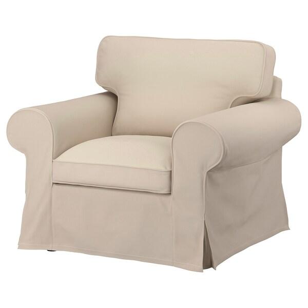 EKTORP Betræk til lænestol, Hallarp beige