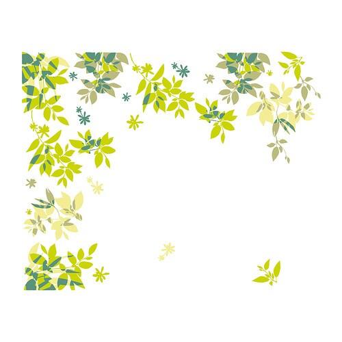ELSABO Dekoration, klistermærke , Grønne blade