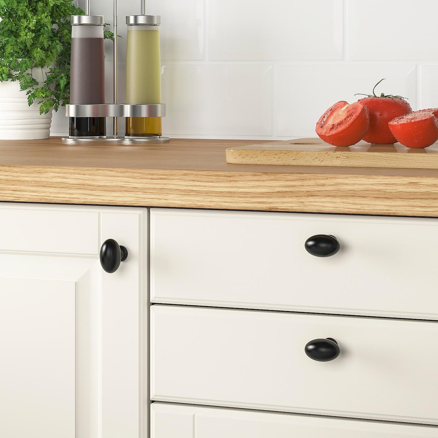 Picture of: Eneryda Knop Sort 35 Mm Ikea