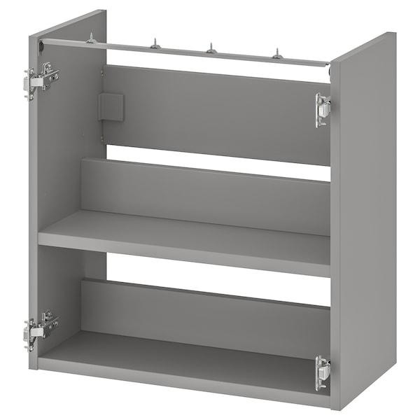 ENHET Underskab t vask m hylde, grå, 60x30x60 cm