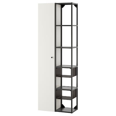 ENHET Vægopbevaringskombination, antracit/hvid, 60x30x180 cm
