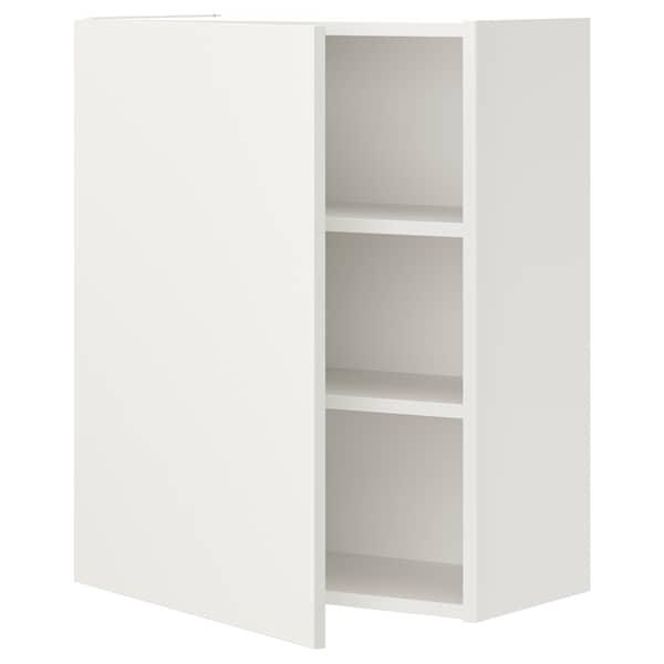 ENHET Vægsk 2 hyld/låge, hvid, 60x32x75 cm