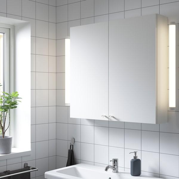 ENHET Vægskab med 2 hylder/låger, hvid, 80x17x75 cm