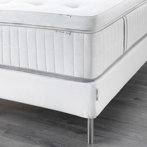 ESPEVÄR Kontinentalseng, Hokkåsen medium/Tustna hvid, 140x200 cm