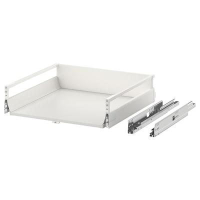 EXCEPTIONELL Skuffe, mellem med åbnebeslag, hvid, 60x60 cm