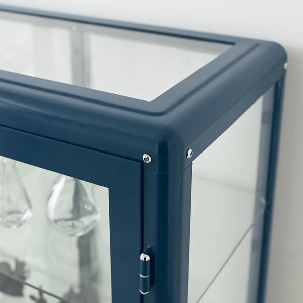FABRIKÖR Vitrineskab, sortblå, 81x113 cm