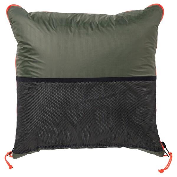 FÄLTMAL Pude/dyne, mørkegrøn, 190x120 cm