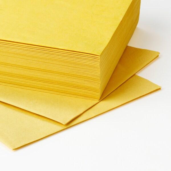 FANTASTISK papirserviet gul 40 cm 40 cm 50 stk