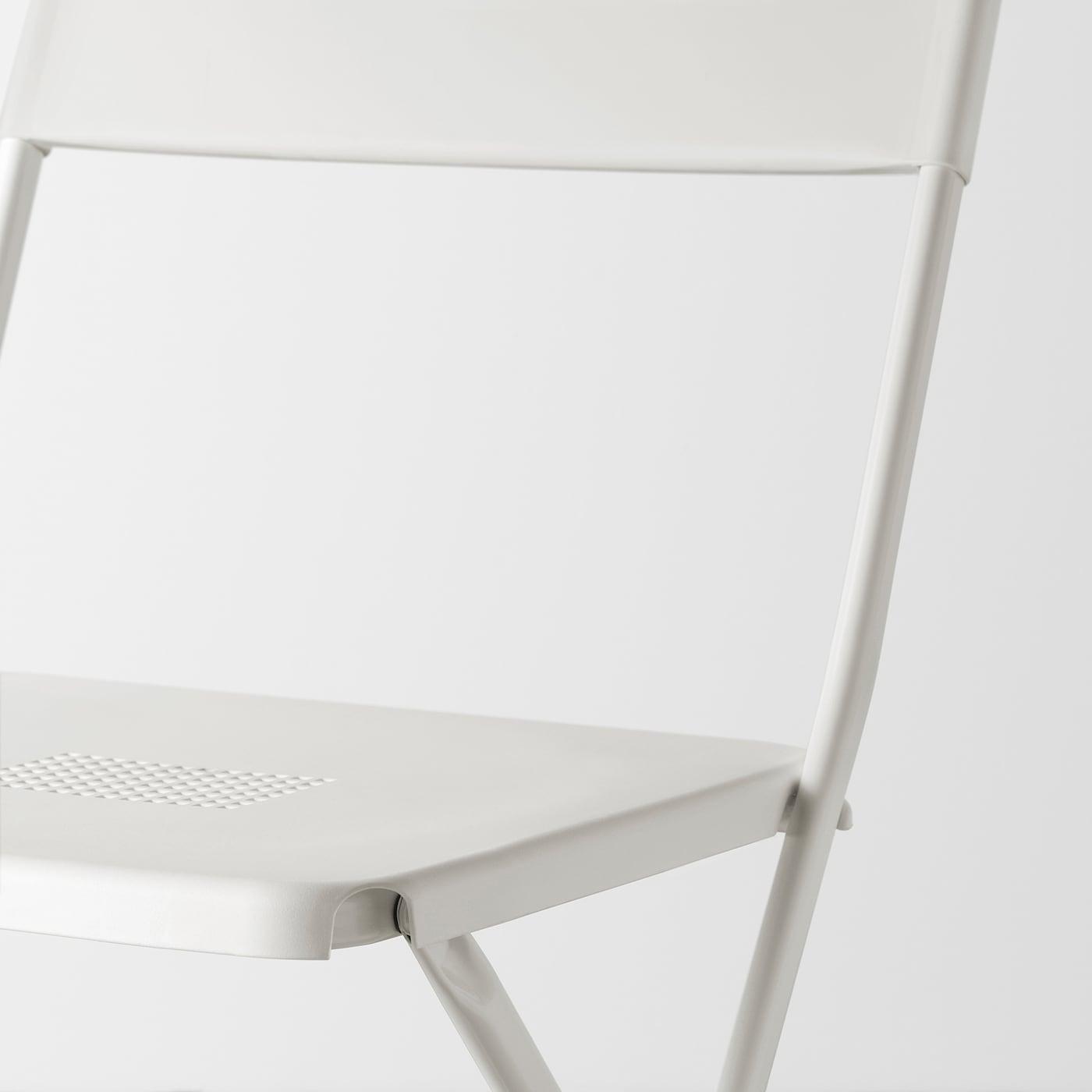 FEJAN Stol, ude, kan klappes sammen hvid