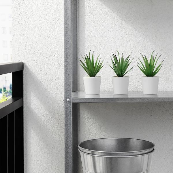 FEJKA Kunstig plante m urtepotteskju, indendørs/udendørs sukkulent, 6 cm