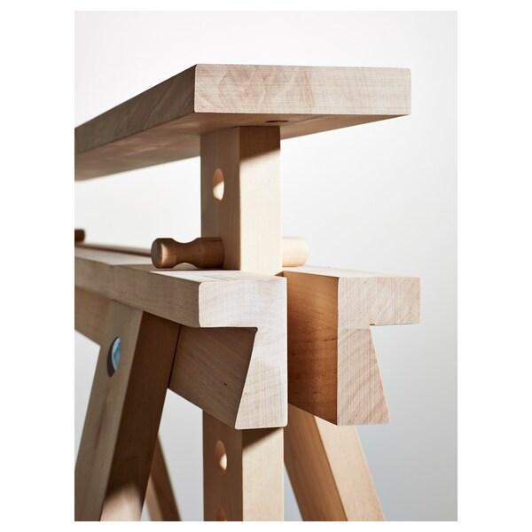 FINNVARD Benbuk med hylde, birk, 70x71/93 cm