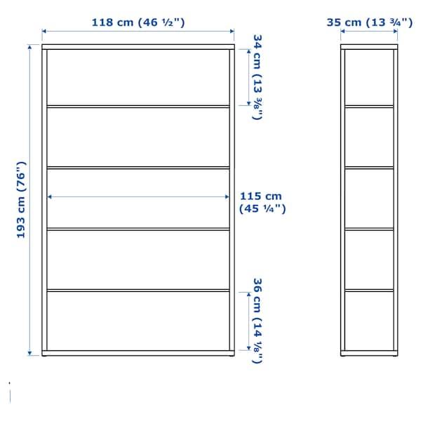 FJÄLKINGE Reol, hvid, 118x193 cm