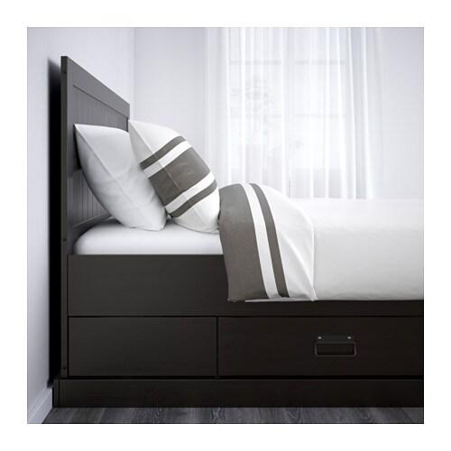 Fjell sengestel med opbevaring     ikea