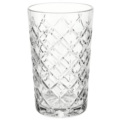 FLIMRA Glas, klart glas/mønstret, 42 cl