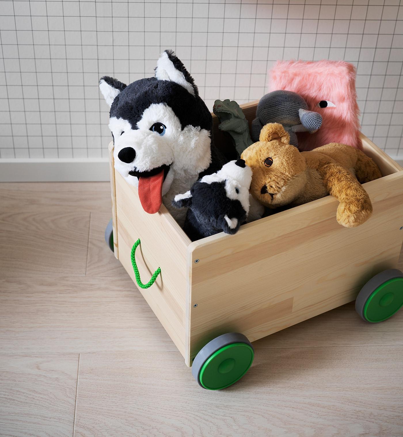 Flisat Legetojsopbev M Hjul Ikea