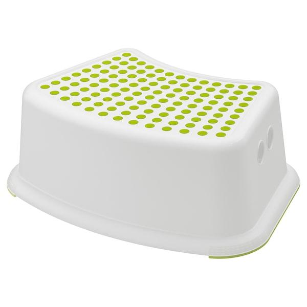 FÖRSIKTIG børnetaburet hvid/grøn 37 cm 24 cm 13 cm 35 kg