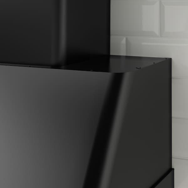 FOKUSERA Vægmonteret emhætte, sort