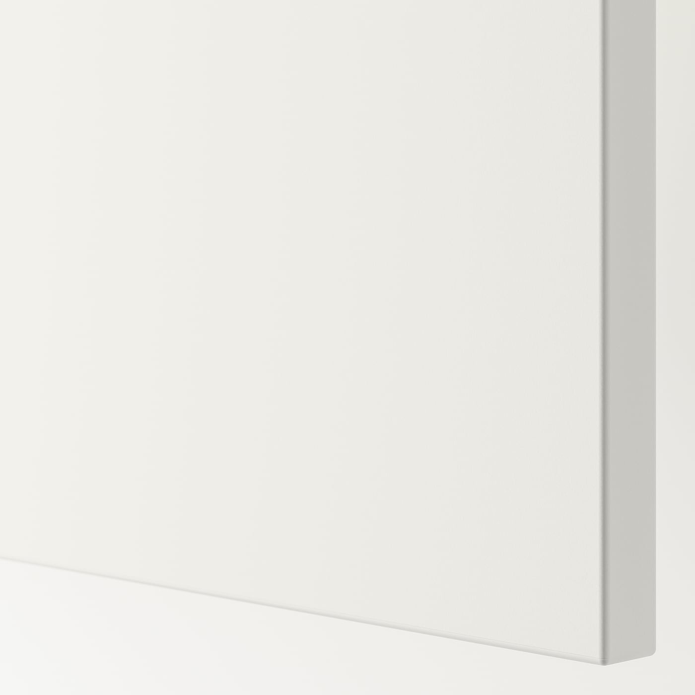 FONNES Låge med hængsler, hvid, 60x40 cm