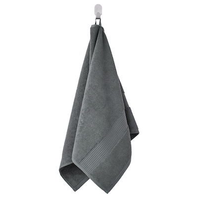 FREDRIKSJÖN Håndklæde, mørkegrå, 50x100 cm