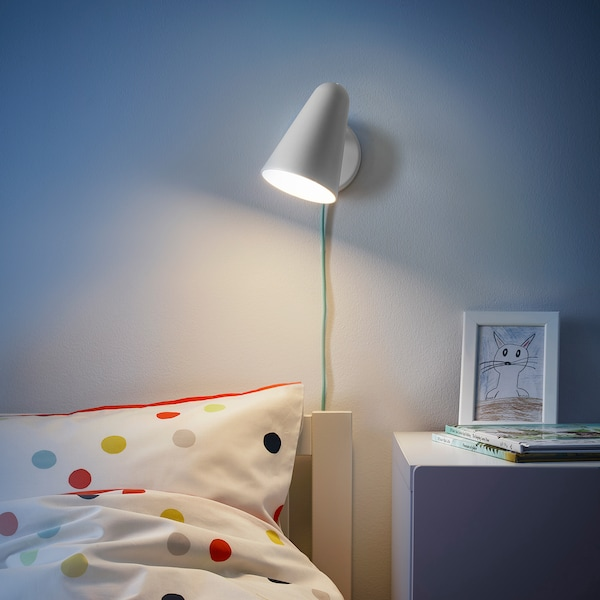 FUBBLA LED-væglampe, hvid