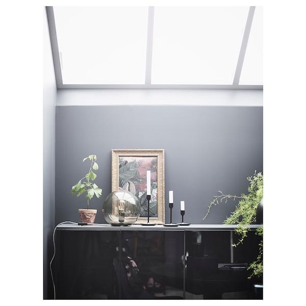 FULLTALIG Lysestage sæt med 3, sort