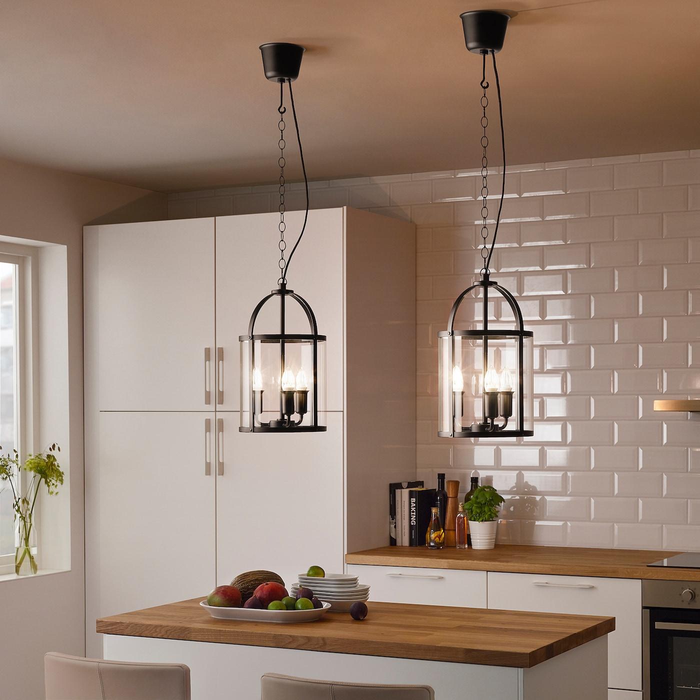 Picture of: Galjon Loftlampe Sort Transparent Glas Ikea