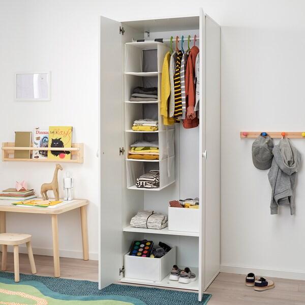GODISHUS Garderobeskab, hvid, 60x51x178 cm