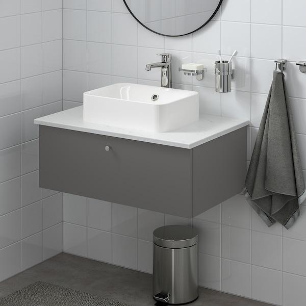 GODMORGON Skab til vask med 1 skuffe, Gillburen mørkegrå, 80x47x29 cm