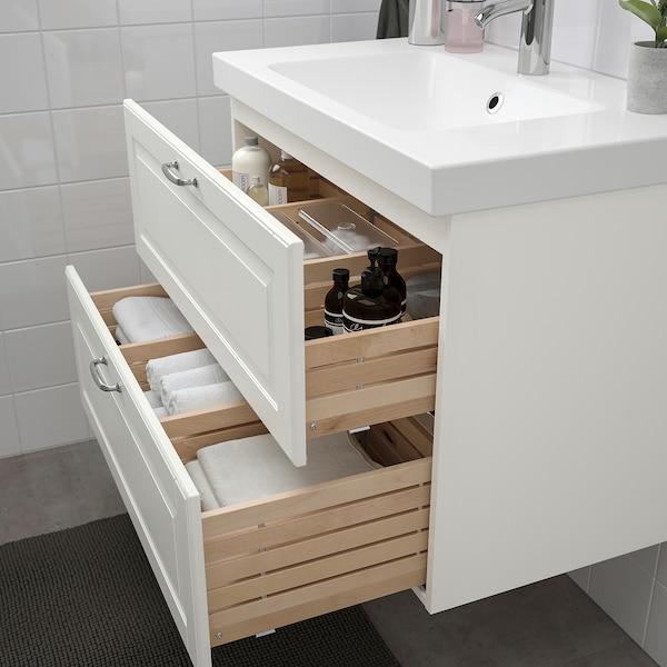 GODMORGON Skab til vask med 2 skuffer, Kasjön hvid, 80x47x58 cm