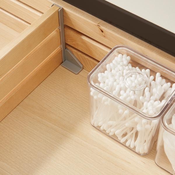 GODMORGON / TOLKEN Skab til vask med 4 skuffer, højglans hvid/marmormønstret, 102x49x60 cm