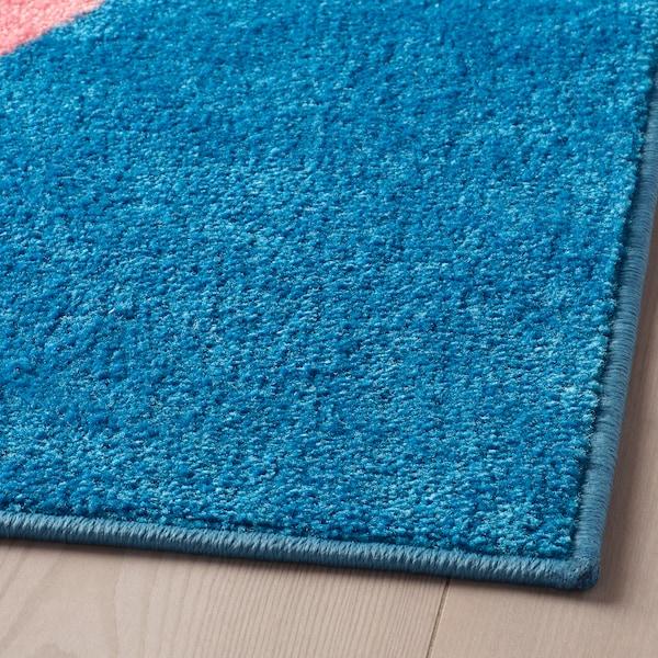 GRACIÖS tæppe pink/blå 160 cm 133 cm 2.13 m²