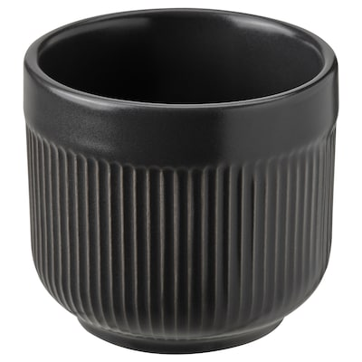 GRADVIS Urtepotteskjuler, indendørs/udendørs sort, 6 cm