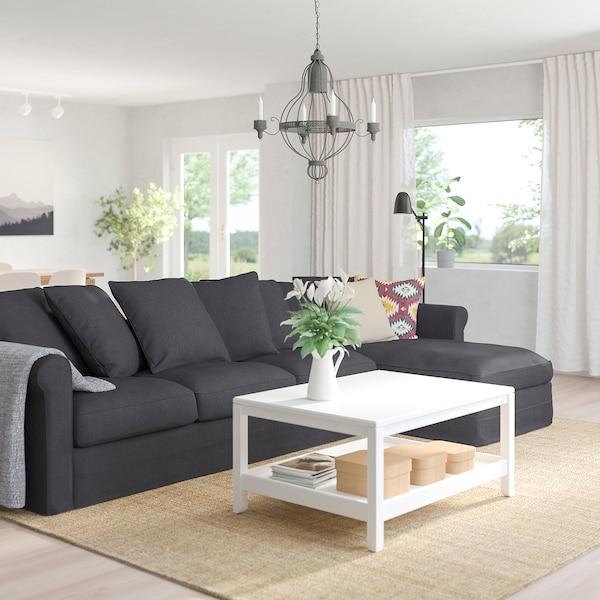 GRÖNLID 4-pers. sofa, med chaiselong/Sporda mørkegrå