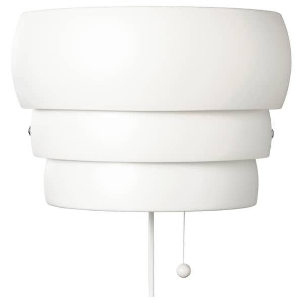 GRÖNPLYM Væglampe, hvid