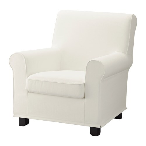 white leather armchair gr 214 nlid stol inseros hvid ikea 21970 | gronlid stol hvid 0604385 PE681233 S4