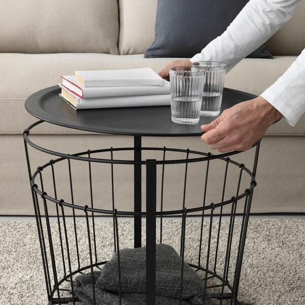 GUALÖV bord med opbevaring sort 47 cm 60 cm