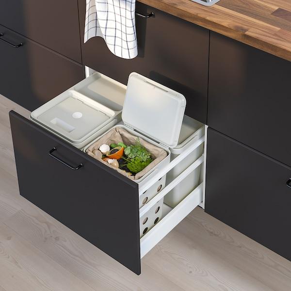 HÅLLBAR Spand med låg til organisk affald, lysegrå, 10 l